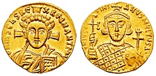 Gold solidus of Justinian II 4.42 grams (0.156 oz), struck after 692.[60]