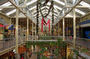 Interior of South Towne Center before remodel