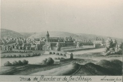 The town and abbey of Stavelot, c. 1735