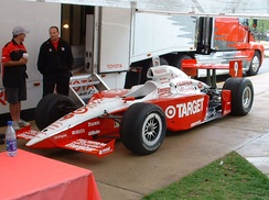 The Target Chip Ganassi Racing IndyCar visiting Purdue University