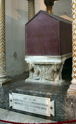 Roger's tomb in the Cathedral of Palermo.