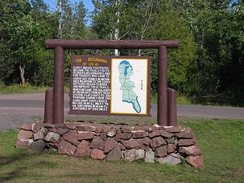 A sign in Copper Harbor denotes the point at which US 41 begins.