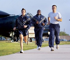 USAF Airmen training at Lackland AFB