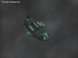 Screenshot of a pre-rendered cutscene from Warzone 2100, a free and open-source video game