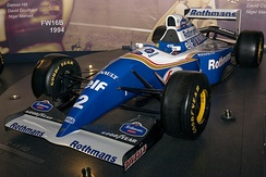 The Williams FW16 was the last car raced by Senna.