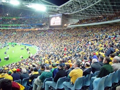 The opening game at Stadium Australia between Australia and Argentina