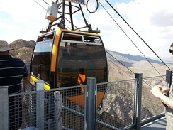 The Wyler Aerial Tramway in the Franklin Mountains is the only commercial tramway in the state of Texas.