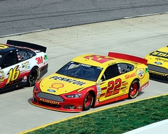 Logano during the 2013 STP Gas Booster 500