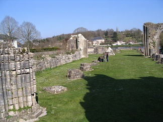 Ruins of the abbey of Saint Evroult