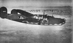 B-24 Liberator of a training unit in the southwest