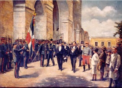 President Alejandro Woss y Gil taking office in 1903