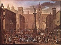 Market by Alessandro Magnasco, first half 18th century