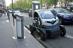 Renault Twizy all-electric heavy quadricycle.