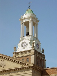 The cupola atop the Bedford County Court House was built in 1866.