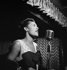 American jazz singer and songwriter Billie Holiday in New York City in 1947.