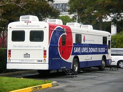 Redwood City, California bloodmobile