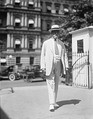Charles Evans Hughes with the Eisenhower Executive Office Building in the background