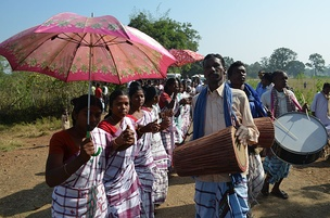 Dance of the Santal people in the Mayurbhanj area.