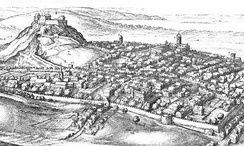 View of Edinburgh in the late seventeenth century showing the suburbs outside of the city walls