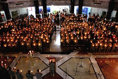 A Christmas Eve candlelight service in Baghdad, Iraq