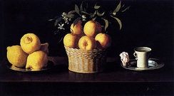 Still Life with Lemons, Oranges and a Rose, 1633, Norton Simon Museum