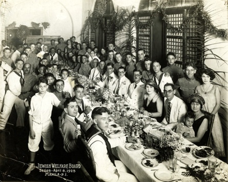 Jewish community in Manila during a Passover Seder celebration, 1925