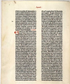 Gutenberg Bible, ca. 1450, produced using movable type