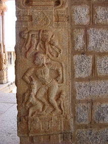 Numerous 14th-century and later Hanuman images are found in the ruins of the Hindu Vijayanagara Empire.[15]:64–71