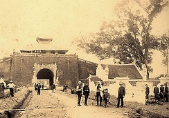 North gate of Hanoi Citadel from inside (19th century)