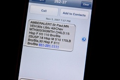 A text message (SMS)