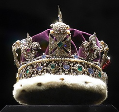 The Imperial State Crown (side view)
