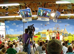 Television interview during the 2006 Fair