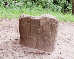 The Gediminid symbol in Rambynas Hill, Lithuania