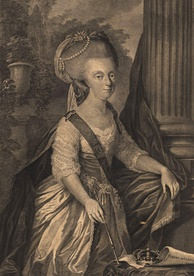 Engraving of Maria I from 1786