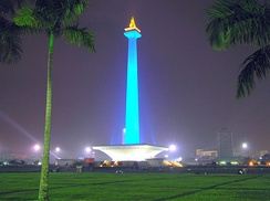 Night view of Monas, the Jakarta landmark