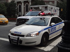 Law enforcement in the U.S. is maintained primarily by local police departments. The New York City Police Department (NYPD) is the largest in the country.