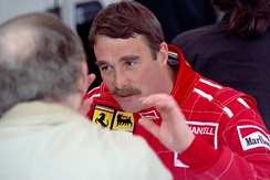 Nigel Mansell during his time with Scuderia Ferrari