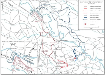 Movement to Totopotomoy, May 25–28, 1864, following the Battle of North Anna