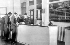 MATS Terminal Flight Information Desk at Orly Air Base, 1955