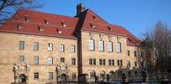 The courthouse in Nuremberg, where the trials took place