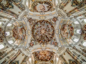 Ceiling of Ottobeuren Abbey in Bavaria (1711–1725)