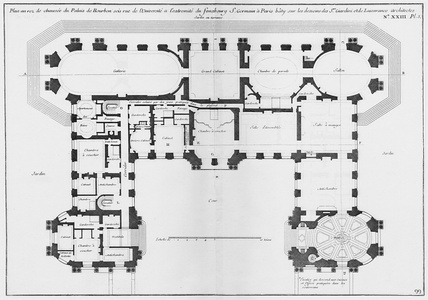 Plan of the ground floor of the Palais Bourbon (1752)