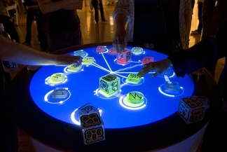 The Reactable, an example of a tangible user interface
