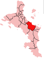 Location of Cascade District on Mahé Island, Seychelles