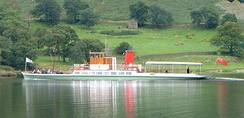 A steamer on Ullswater