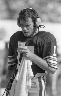 "Cleveland Browns quarterback Brian Sipe led the ""Kardiac Kids"" to a series of last-minute victories."