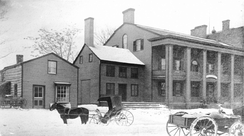 St. James Hotel, Burr's final home and place of death, in a late 19th century photograph
