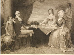 The British Museum, London (2011)1798 stipple print of The Washington Family by Edward Savage