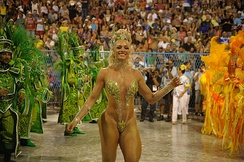 A typical performer of Samba dance