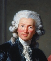 Charles-Alexandre de Calonne by Élisabeth-Louise Vigée-Le Brun (1784), London, Royal Collection. The Vicomte de Calonne is shown wearing a powdered wig; the powder that has fallen from the wig is visible on his shoulders.